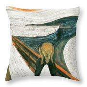Scream A Bunch Digital Throw Pillow