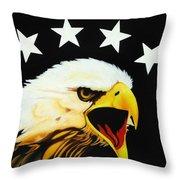 Screaming Eagle Throw Pillow