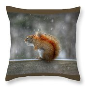 Screaming Squirrel  Throw Pillow
