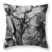 Screaming Statue Throw Pillow