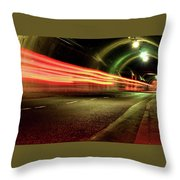 Screaming Tunnel Throw Pillow