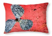 Screw Propeller Throw Pillow