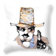 Scribbler Cowboy Throw Pillow