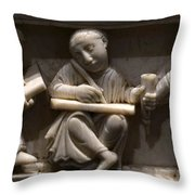 Scribes, 10th Century Throw Pillow
