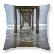 Scripps Pier La Jolla California 4 Throw Pillow