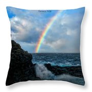Scripture And Picture Genesis 9 16 Throw Pillow by Ken Smith