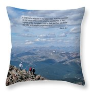 Scripture And Picture Micah 4 1 Throw Pillow
