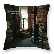 Scripture And Picture Psalm 46 10 Throw Pillow