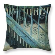 Scrolled Staircase By H H Photography Of Florida Throw Pillow