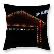 Scrooge Is Alive Throw Pillow by James Eddy