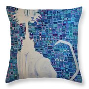 Scruffy The Cat Throw Pillow