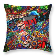 Scuba Down Under Throw Pillow