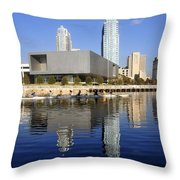 Sculling By The Tampa Bay Art Center Throw Pillow