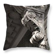 Sculpted Balcony Bracket Budapest Throw Pillow