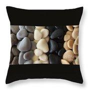 Sculpted Beach Rocks Throw Pillow
