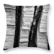 Sculpted Log Throw Pillow