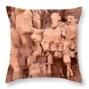 Sculpted Rocks Throw Pillow
