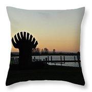 Sculpture At Sunset Throw Pillow