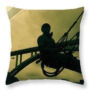 Sculpture - Hoover Dam Construction Worker Throw Pillow