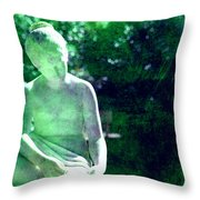 Sculpture In A Park Throw Pillow by Susanne Van Hulst