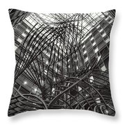 Sculpture In The Phs Building At The European Parliament Of Brussels Throw Pillow