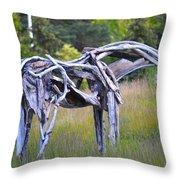 Sculpture Of Horse Throw Pillow