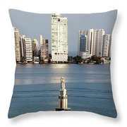 Sculpture On A Water Throw Pillow