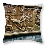 Sculpture Torture At Hoa Lo Prison Hanoi Throw Pillow