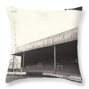 Scunthorpe United - Old Showground - Doncaster Road End 1 - 1960s Throw Pillow