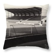 Scunthorpe United - Old Showground - East Stand 1 - Bw - 1960s Throw Pillow