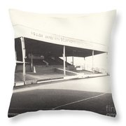 Scunthorpe United - Old Showground - Main Stand 1 - Bw - 1960s Throw Pillow
