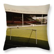 Scunthorpe United - Old Showground - Main Stand 2 - 1970s Throw Pillow