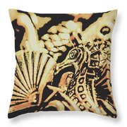 Sea Abstract From The Nautics  Throw Pillow