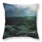 Sea And Sky Throw Pillow by Diane Kraudelt