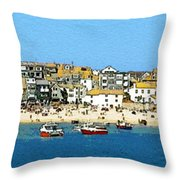 Sea And Sky Throw Pillow by Julian Perry