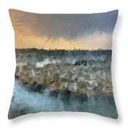 Sea And Stones Throw Pillow