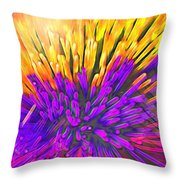 Sea Anemone Abstract - Kooosh Ball Throw Pillow