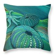 Sea Anemone Kina By Reina Cottier Throw Pillow