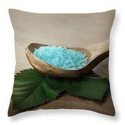 Sea Bath Salt Throw Pillow