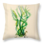 Sea Bed One Throw Pillow