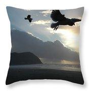 Sea Birds 2 Throw Pillow