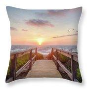 Sea Birds At Sunrise Throw Pillow