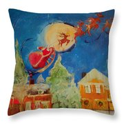 Sea Blue Christmas  Throw Pillow