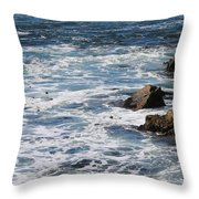 Sea Blue  Throw Pillow