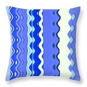 Sea Blue Wave Tapestry Throw Pillow
