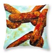 Sea Chain Throw Pillow
