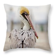 Sea Chicken Throw Pillow