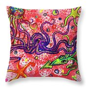 Sea Critters Throw Pillow