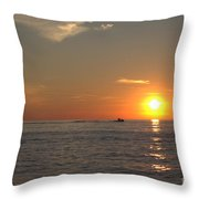 Sea Doo In To The Sunset Throw Pillow
