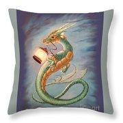 Sea Dragon And Lantern Throw Pillow
